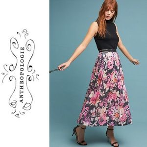NWT ANTHROPOLOGIE Maeve Pleated Sequin Skirt 14